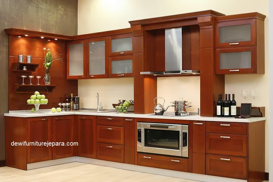 Desain Kitchen Set Jati