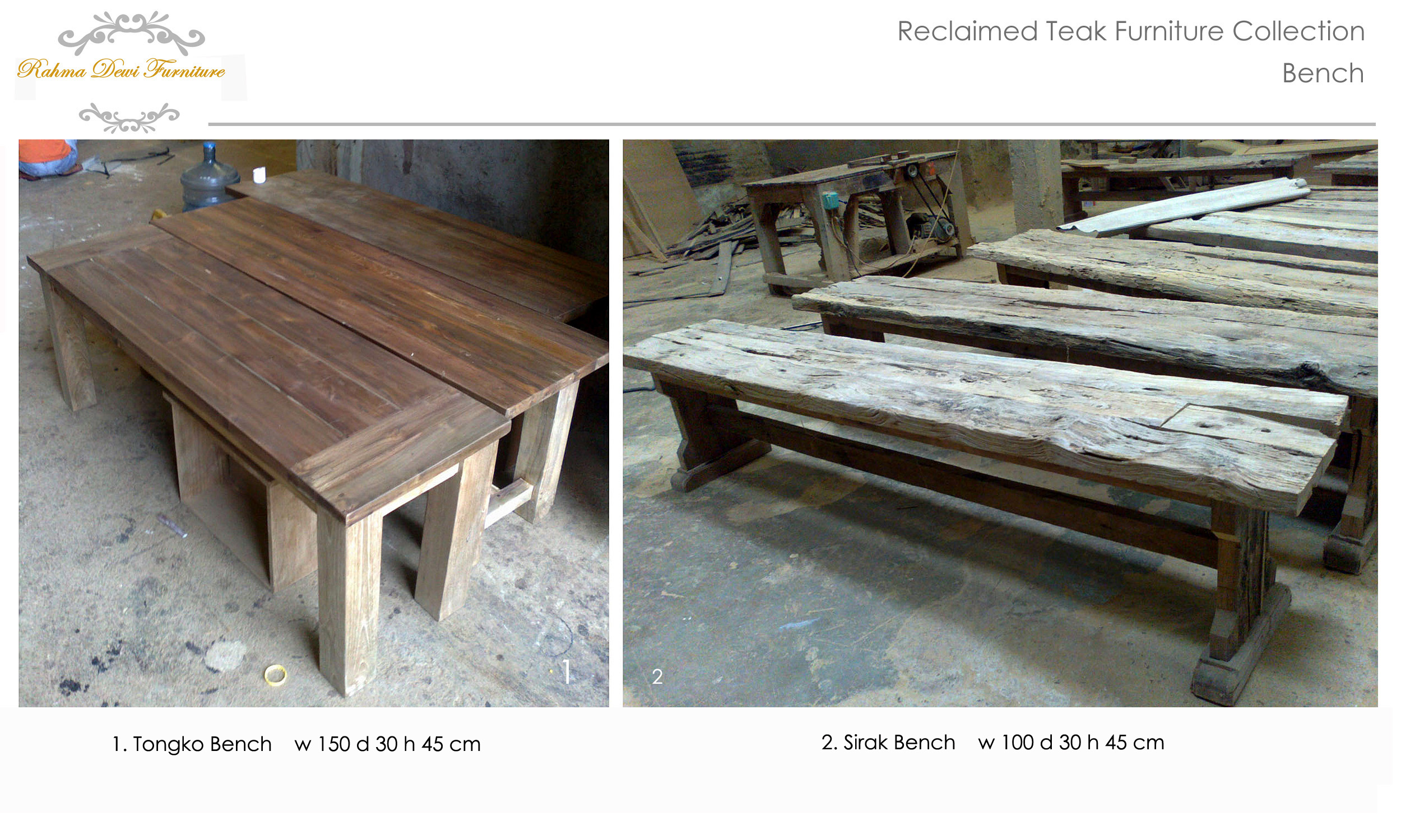 An eco friendly work in making teak wood furniture in java indonesia reclaiming the teak wood from the wreck of old wooden house recycling into a